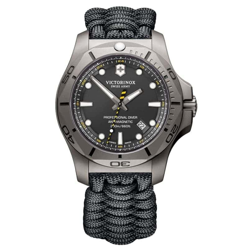 ビクトリノックススイスアーミー I.N.O.X. (イノックス) プロフェッショナルダイバー チタニウム /ブラック/付替ラバーベルト付属/ 241812 腕時計