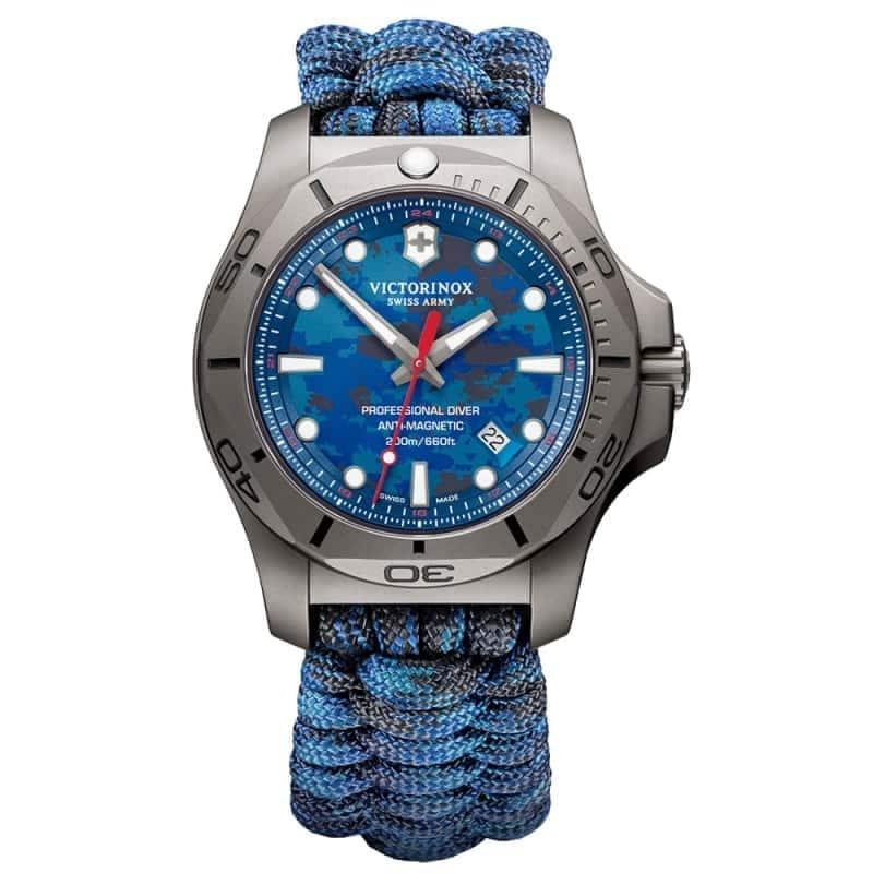 ビクトリノックススイスアーミー I.N.O.X. (イノックス) プロフェッショナルダイバー チタニウム /ブルー/付替ラバーベルト付属/ 241813 腕時計
