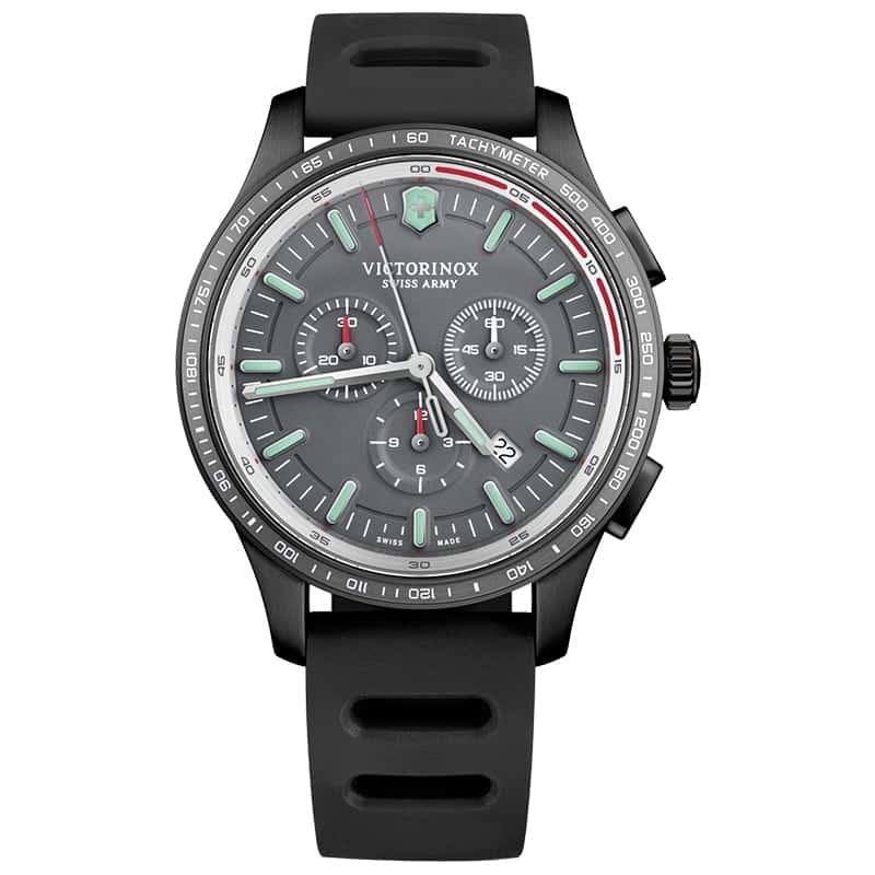 ビクトリノックススイスアーミー/アライアンス スポーツ クロノグラフ 241818/グレー/44mm 腕時計