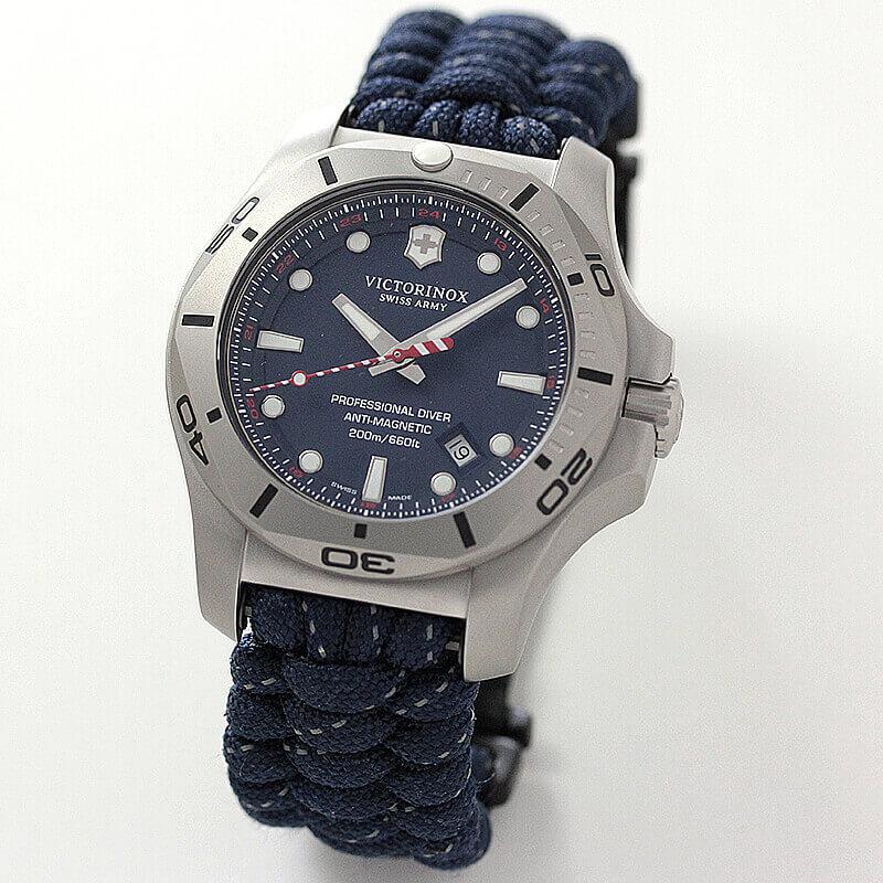 ビクトリノックススイスアーミー I.N.O.X. (イノックス) プロフェッショナルダイバー /ブルー/付替ラバーベルト付属/241843 腕時計