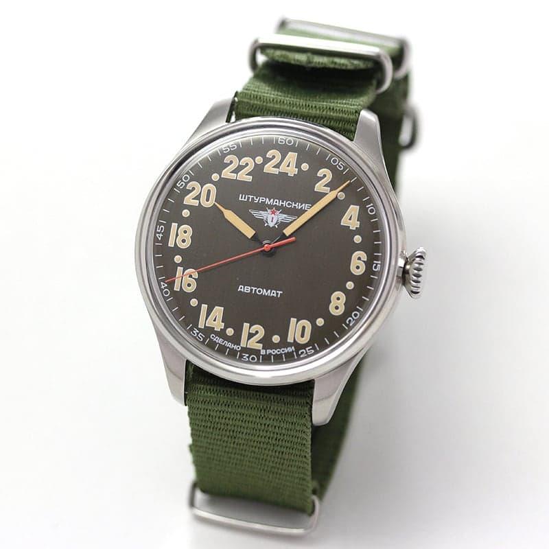STURMANSKIE(シュトゥルマンスキー) HERITAGE ARCTIC(ヘリテージ アルクティカ) 自動巻き カーキ 2431/6821343 腕時計