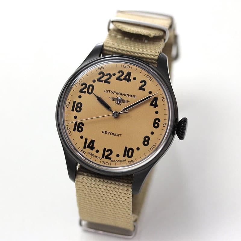 STURMANSKIE(シュトゥルマンスキー) HERITAGE ARCTIC(ヘリテージ アルクティカ) 自動巻き ベージュ×ブラックPVD 2431/6824344 腕時計