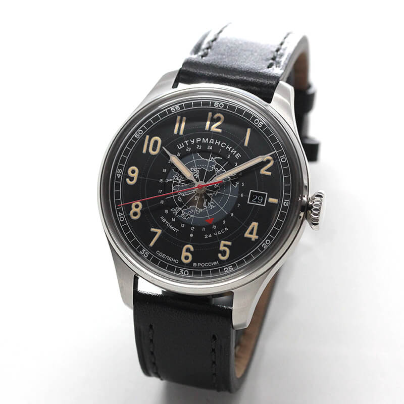 STURMANSKIE(シュトゥルマンスキー) HERITAGE ARCTIC(ヘリテージ アルクティカ) 自動巻き ブラック 2432-6821355 腕時計