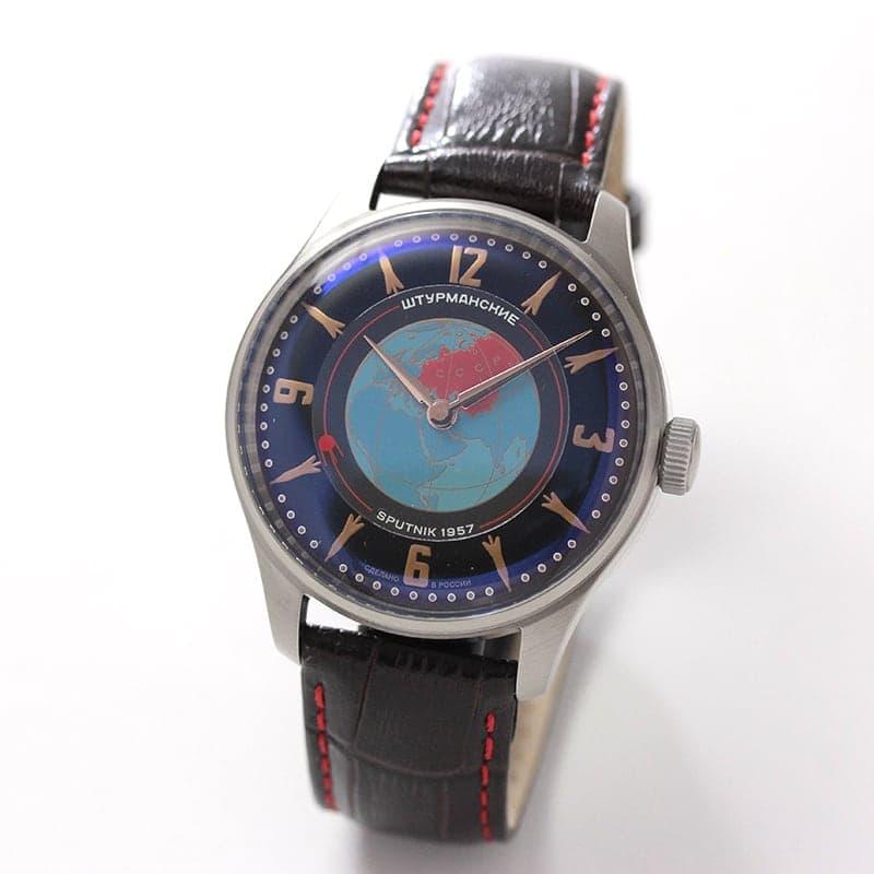 STURMANSKIE(シュトゥルマンスキー) HERITAGE SPUTNIK(ヘリテージ スプートニク) ブラック 手巻き式 世界限定2000本 2609/3735431 腕時計
