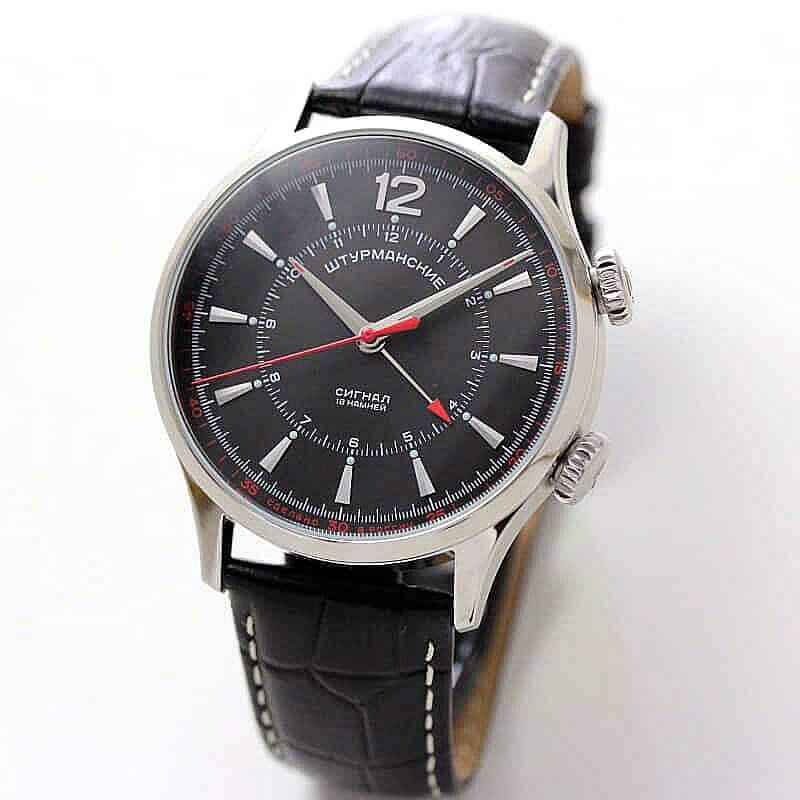 STURMANSKIE/シュトルマンスキー/STRELA(ストレラ)/手巻き式/アラームウォッチ/2612-1801730 腕時計