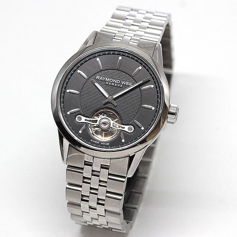レイモンドウェイル フリーランサー(FREELANCER)オープンハート 2780-ST-20001 ブラック 腕時計