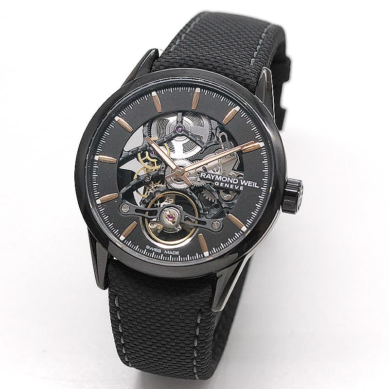 レイモンドウェイル フリーランサー(FREELANCER)スケルトン 2785-BC5-20001 ブラック 腕時計