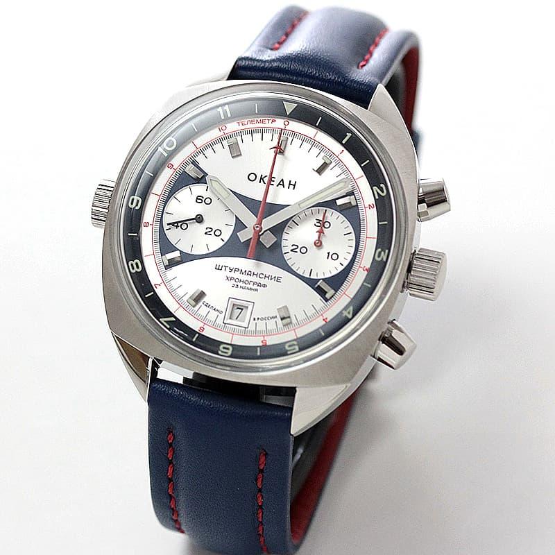 STURMANSKIE シュトゥルマンスキー 手巻クロノグラフ オケアン 3133-1981599 世界500本限定 腕時計