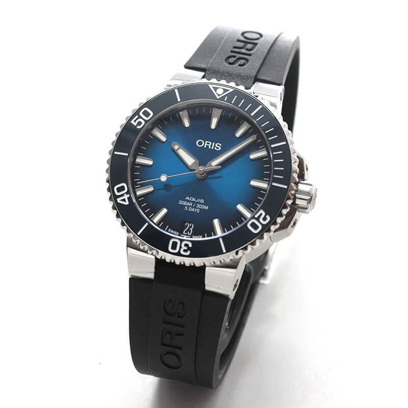 オリス/Oris/ダイビング/AQUIS(アクイス)/キャリバー400/ダイバーズウォッチ 400 7769 4135-07 4 22 74FC 41.5mm径 ブルー 腕時計