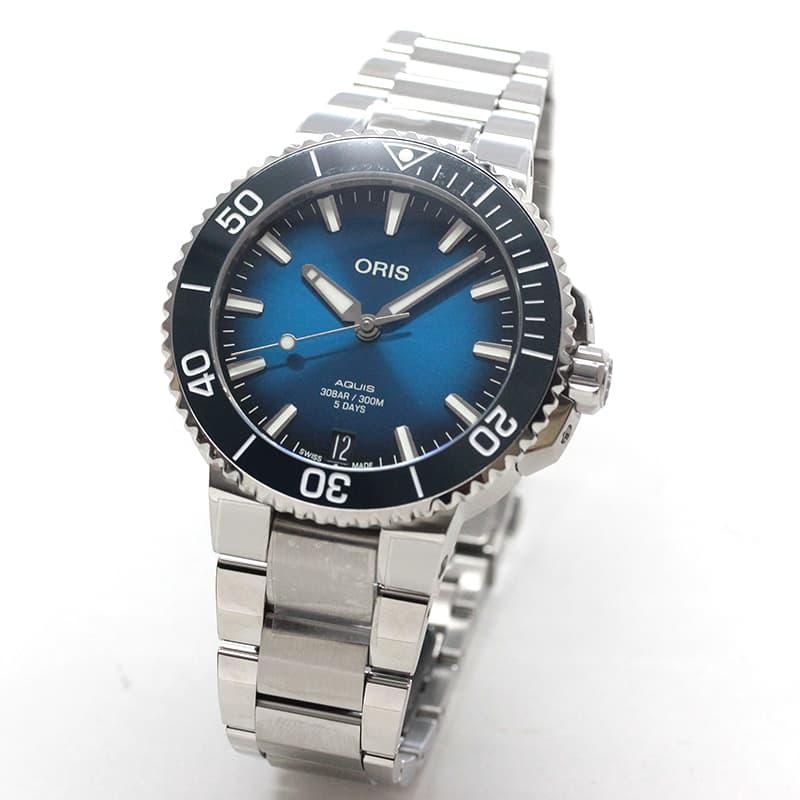 オリス/Oris/ダイビング/AQUIS(アクイス)/キャリバー400/ダイバーズウォッチ 400 7769 4135-0782209PEB 41.5mm径 ブルー 腕時計