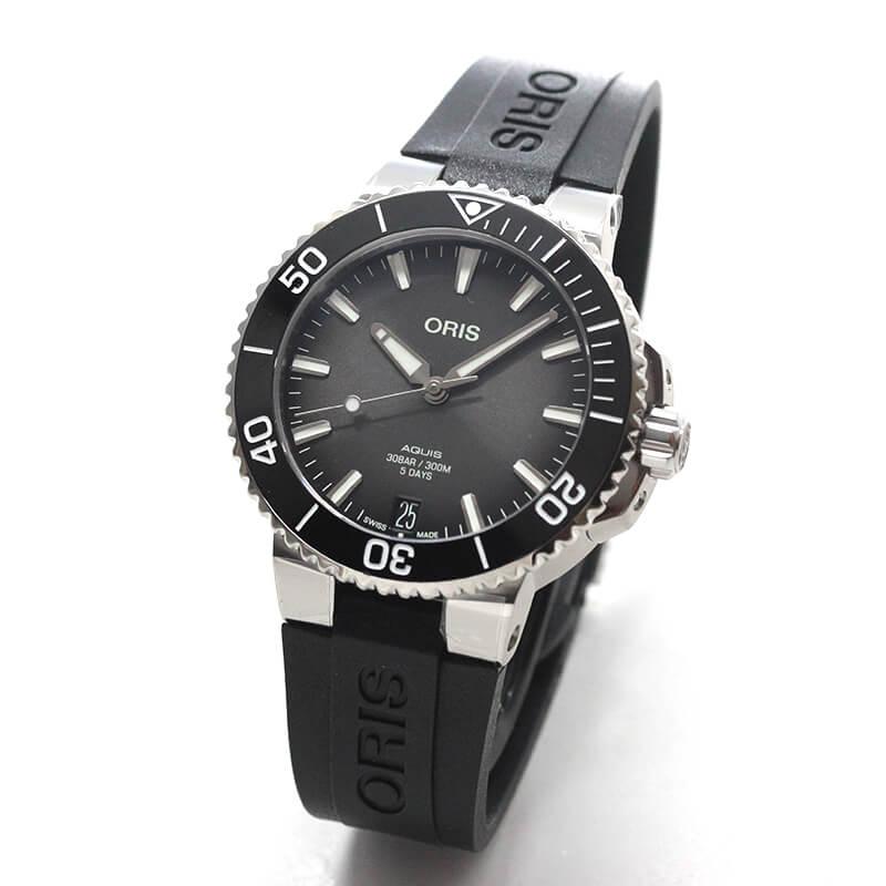 オリス/Oris/ダイビング/AQUIS(アクイス)/キャリバー400/ダイバーズウォッチ 400 7769 4154-07 4 22 74FC 41.5mm径 ブラック 腕時計