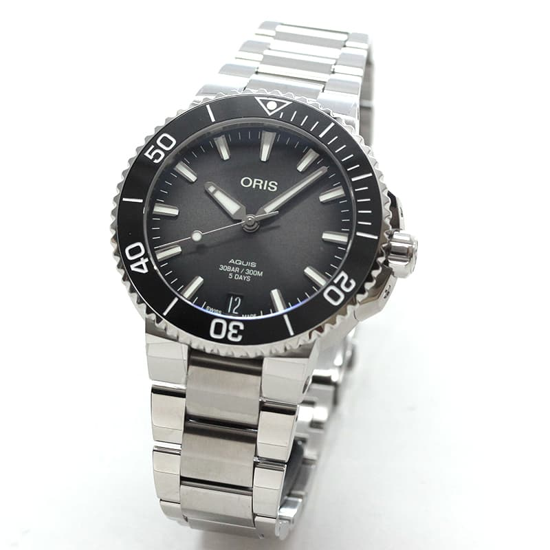 オリス/Oris/ダイビング/AQUIS(アクイス)/キャリバー400/ダイバーズウォッチ 400 7769 4154-0782209PEB 41.5mm径 ブラック 腕時計