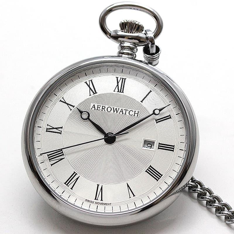 アエロ(AERO)/45828PD01/懐中時計 シルバーカラー