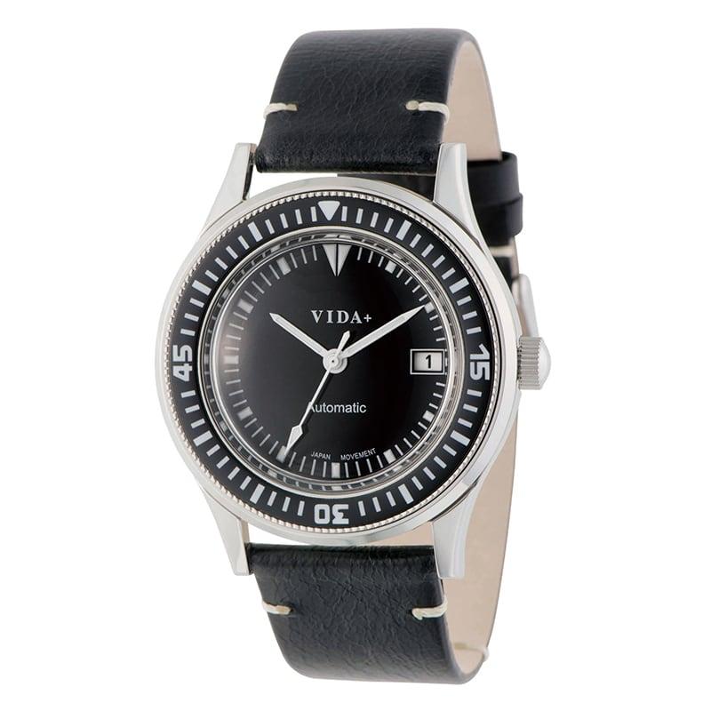VIDA+ Heritage(ヘリテージ) 45920 LE-BK 自動巻き ブラック 男女兼用 腕時計