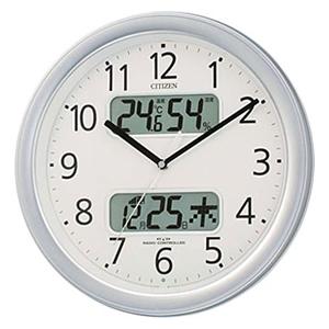 CITIZEN シチズン 電波掛け時計 ネムリーナカレンダーM01(シルバー)【4fya01019】