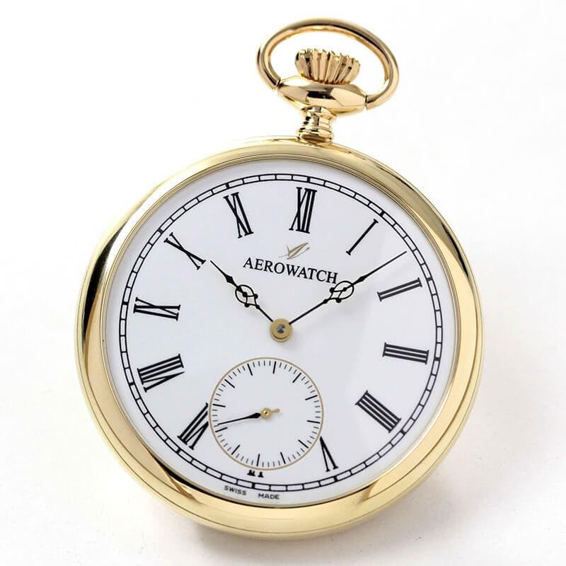 AERO(アエロ) 18K 金無垢 手巻き式 50741J801 懐中時計
