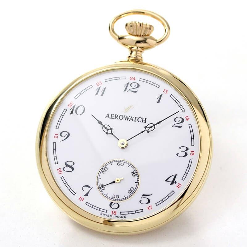 AERO(アエロ) 18K 金無垢 手巻き式 50741J802 懐中時計