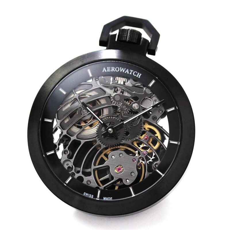 AERO(アエロ) Cobweb 50818 NO02 SQ フルスケルトン懐中時計