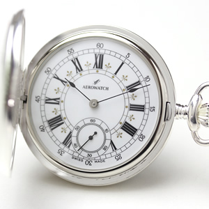 アエロ(AERO)/ハンターケース/手巻き式/銀仕上げ/55629AG01/懐中時計