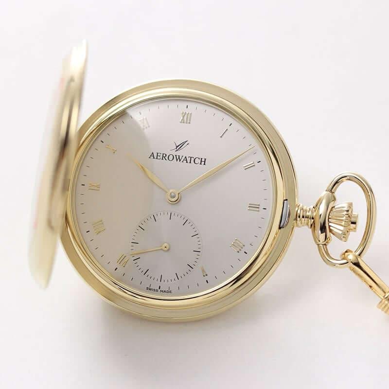 AERO(アエロ)  手巻き式 サボネット 55645 JA04 懐中時計