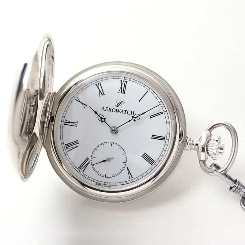 アエロ(AERO)/銀無垢/55775A901/懐中時計