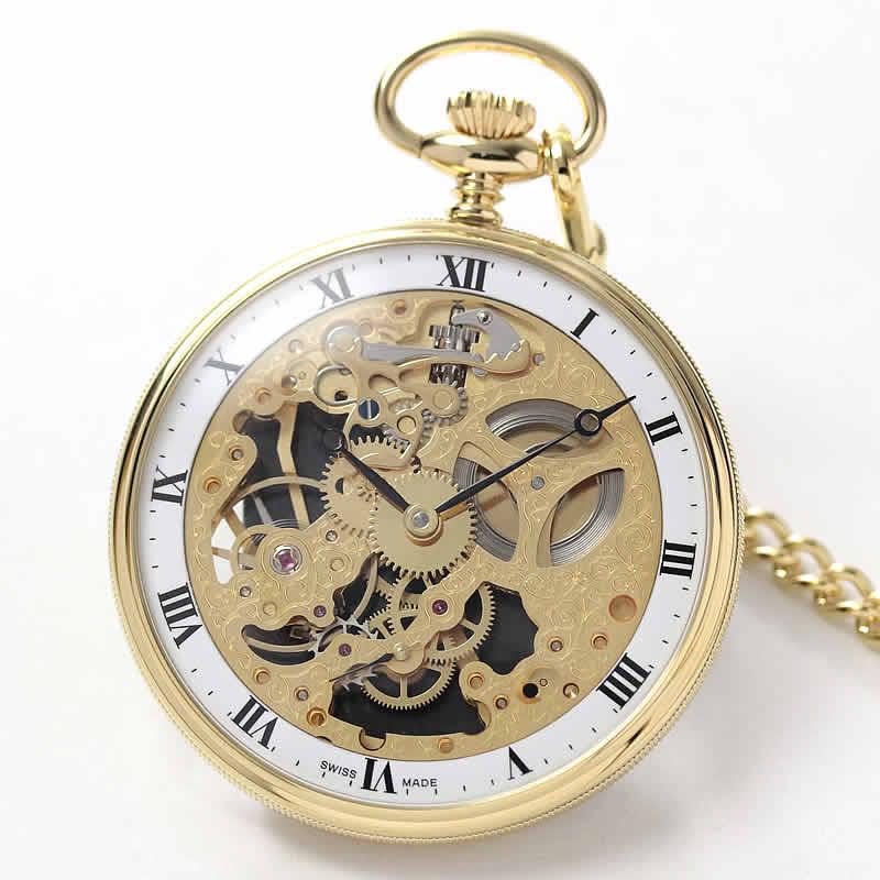 アエロ(AERO)/スケルトン/56738J501/懐中時計