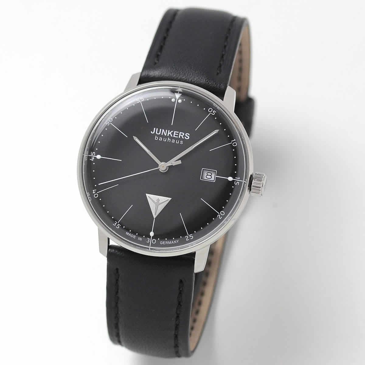 JUNKERS/ユンカース/Bauhaus(バウハウス)/Datum Date/6070-2QZ-203540/クォーツ/腕時計
