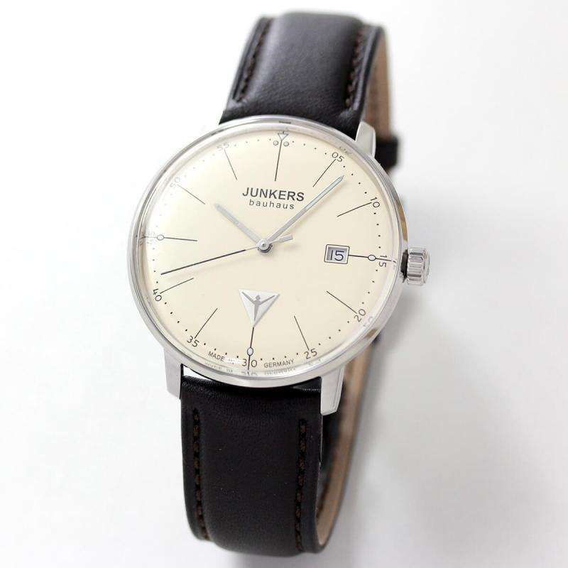 JUNKERS/ユンカース/Bauhaus(バウハウス)/Datum Date/6070-5QZ-203541/クォーツ/腕時計