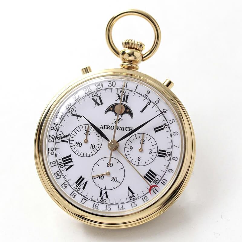 アエロ(AERO)クロノグラフ 手巻き式 69681J101 懐中時計