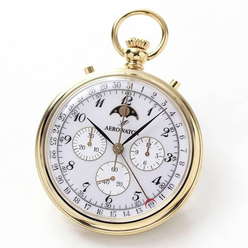 アエロ(AERO)クロノグラフ 手巻き式 69681J102 懐中時計