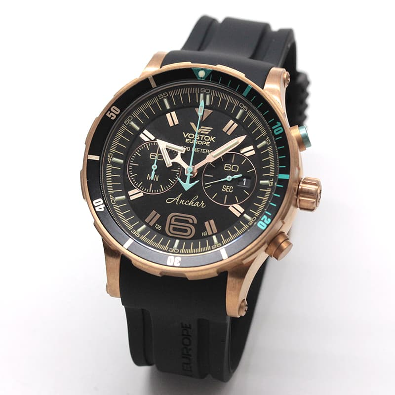VOSTOK EUROPE(ボストーク・ヨーロッパ)/ANCHAR(アンチャール)/世界限定モデル/クロノグラフ/クォーツ/6S21-510O585/ブロンズケース/腕時計