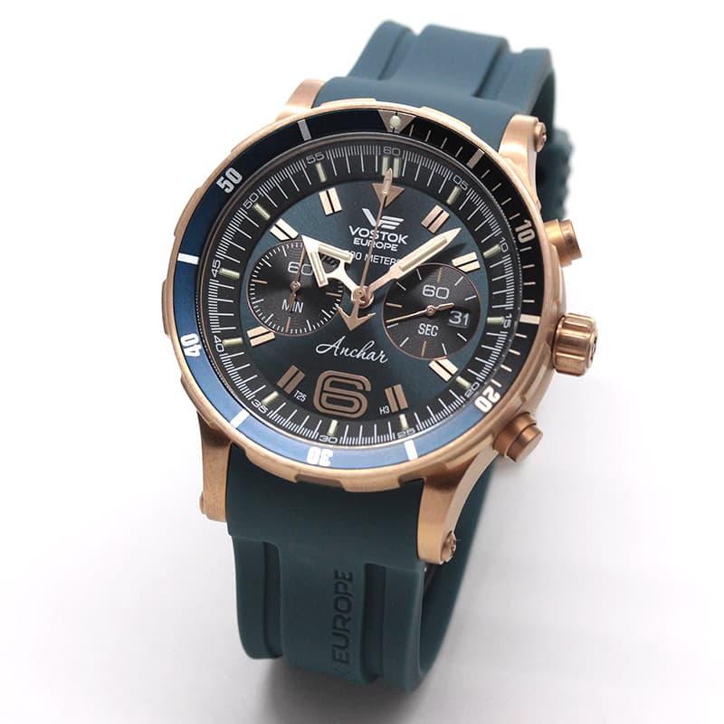 VOSTOK EUROPE(ボストーク・ヨーロッパ)/ANCHAR(アンチャール)/世界限定モデル/クロノグラフ/クォーツ/6S21-510O586/ブロンズケース/腕時計