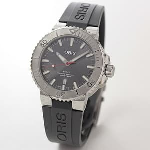 オリス/Oris/ダイビング/AQUIS(アクイス) デイト/レリーフ グレーカラー 腕時計 733 7730 4153-07 4 24 63EB