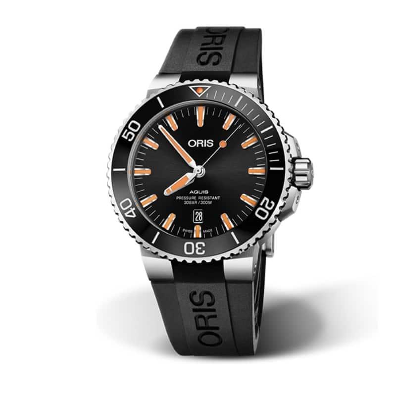オリス/Oris/ダイビング/AQUIS(アクイス) デイト/ブラック/ラバーベルト/733 7730 4159-07 4 24 64EB  腕時計