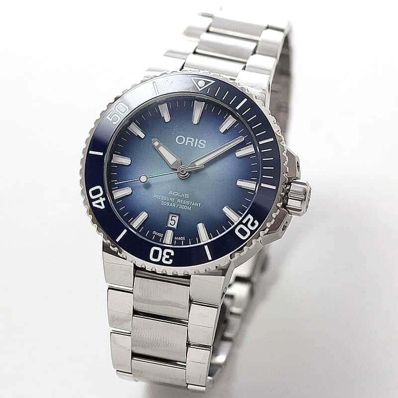 オリス/Oris/ダイビング/AQUIS(アクイス)/レイクバイカル リミテッドエディション 733 7730 4175-Set 腕時計 世界限定1999本