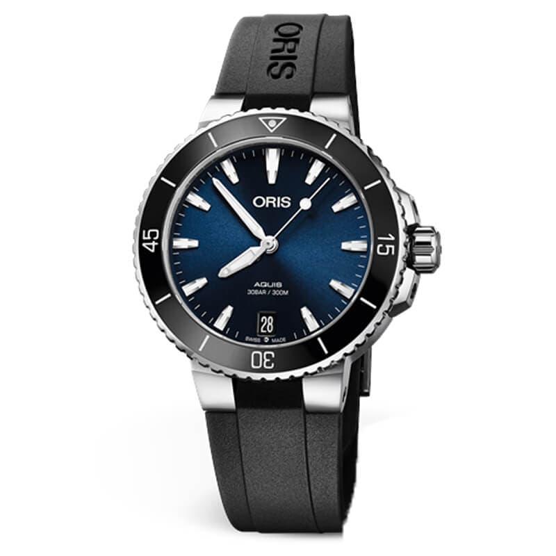 fd9d5904c2 オリス(ORIS)ダイバーズウォッチ/アクイス デイト レディース/ブルー/733 7731 4135-07 4 18 64FC 36.5mm 腕時計