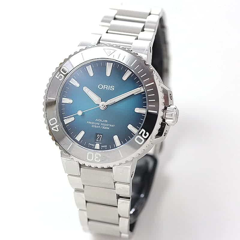 オリス/Oris/ダイビング/AQUIS(アクイス)/デイト 733 7732 4155-07 8 21 05PEB 腕時計
