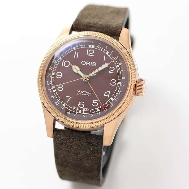 オリス ビッグクラウンブロンズ ポインターデイト 754 7741 3166-07 5 20 74BR  腕時計 ブラウン 80周年記念モデルバリエーションモデル