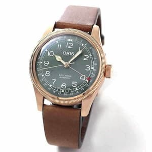 オリス ビッグクラウン  ブロンズ ポインターデイト  80周年アニバーサリーモデル 754 7741 3167-07 5 20 58BR  腕時計 グリーン