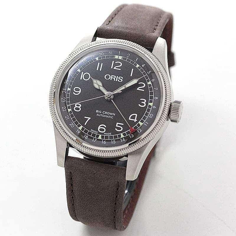 オリス ビッグクラウン オリジナル ポインターデイト メンズ 754 7741 4064-07 5 20 64 腕時計 ブラウン