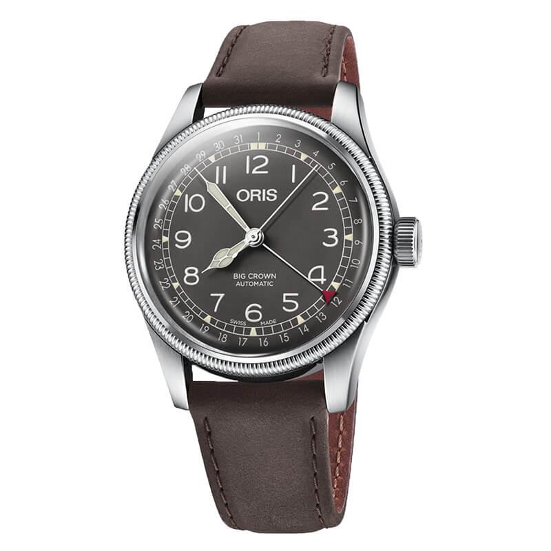 オリス ビッグクラウン オリジナル ポインターデイト メンズ 754.7741.4064F 腕時計 ブラウン