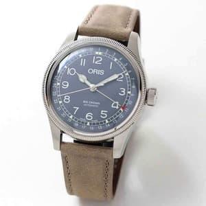 オリス ビッグクラウン オリジナル ポインターデイト メンズ 754 7741 4065-07 5 20 63 腕時計 ブルー