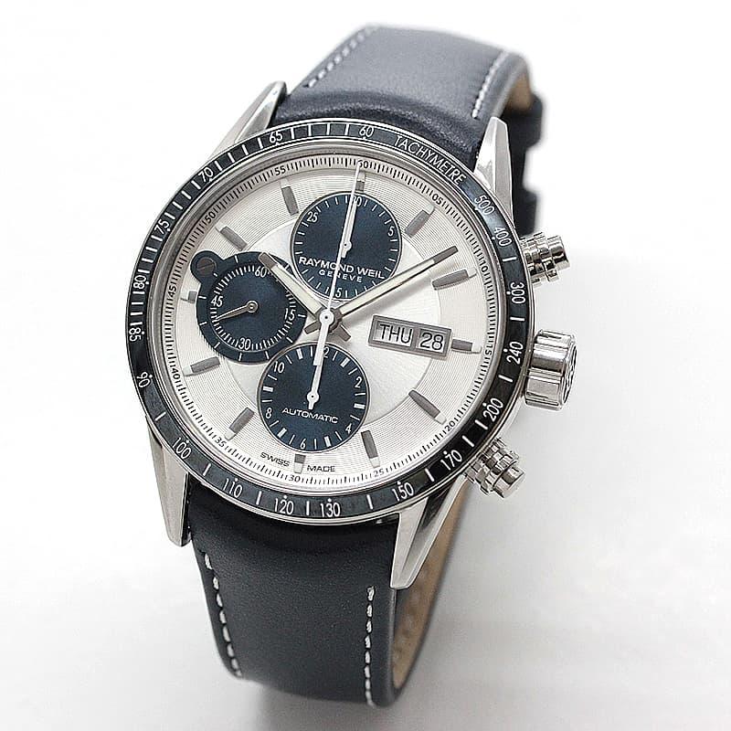 レイモンドウェイル フリーランサー(FREELANCER)クロノグラフ 7731-SC3-65521 ホワイト 腕時計