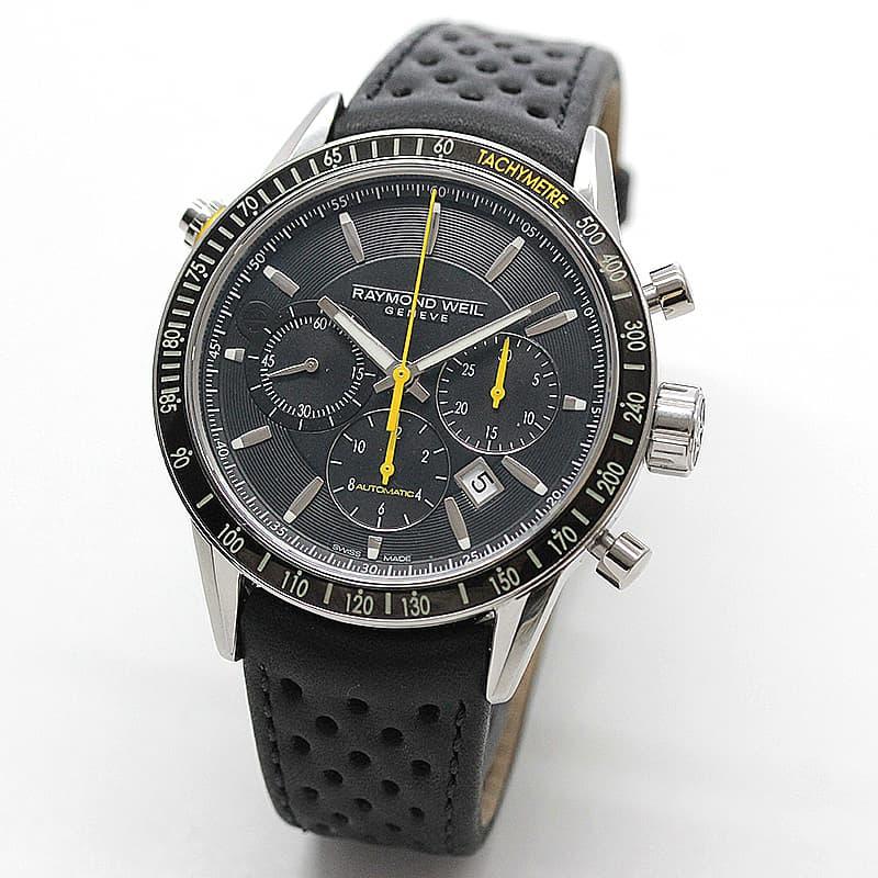 レイモンドウェイル フリーランサー(FREELANCER)クロノグラフ 7740-SC1-20021 ブラック 腕時計