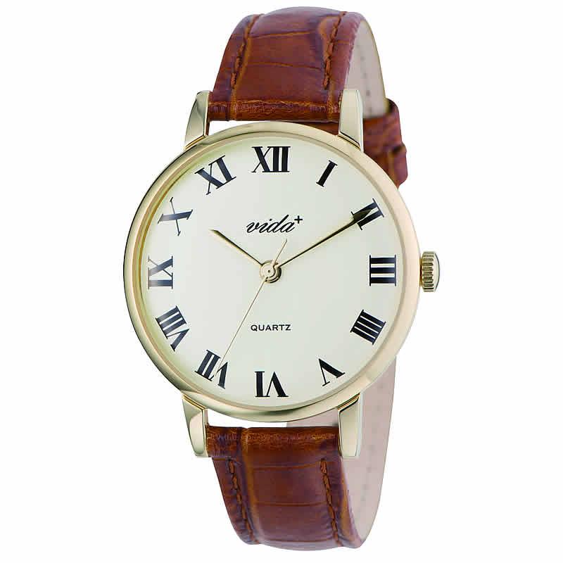 VIDA+Voyage 男女兼用 84960 GD-BR 腕時計
