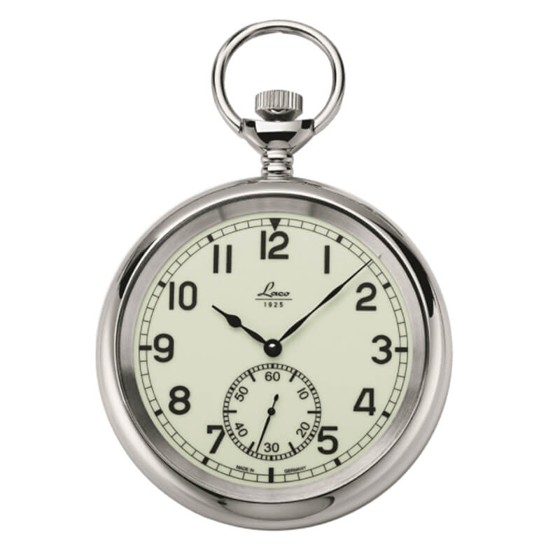 Laco(ラコ) 手巻き式 ポケットウォッチ ネイビーウォッチ 861204 裏蓋スケルトン/懐中時計