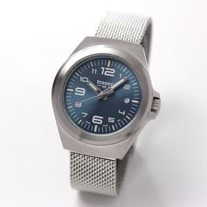 traser(トレーサー) P59 Essential(エッセンシャル) S BLUE メッシュ 9031576 腕時計