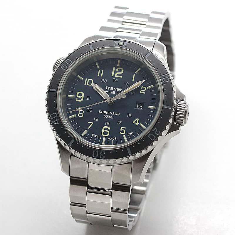 トレーサー/TRASER P67 Super Sub 腕時計 50気圧防水 ダイバーズウォッチ ブルー 9031590
