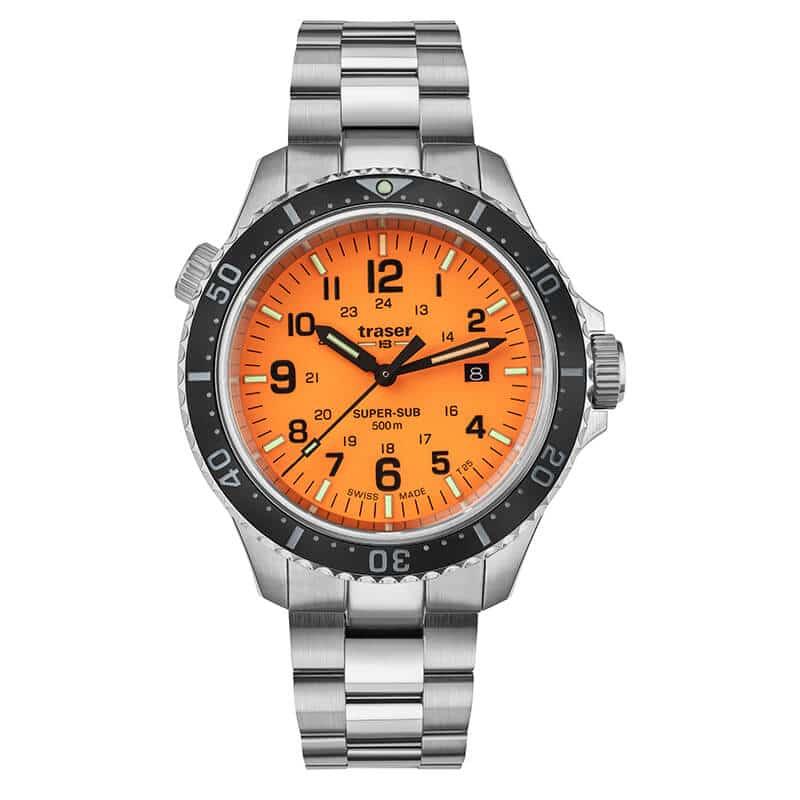 トレーサー/TRASER P67 Super Sub 腕時計 50気圧防水 ダイバーズウォッチ オレンジ 9031592