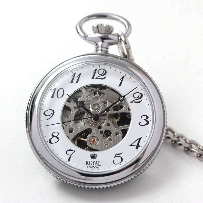ROYAL LONDON(ロイヤルロンドン) スケルトン懐中時計 90002-01
